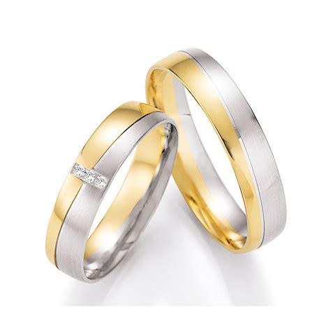 Eheringe Wei Und Gelbgold by Bicolore Eheringe Aus Wei 223 Gold Gelbgold Mit Diamanten