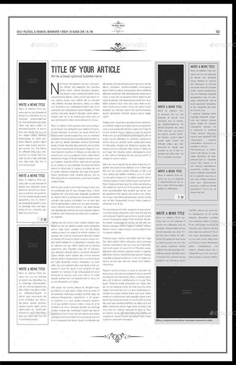 newspaper template tabloid by keboto graphicriver