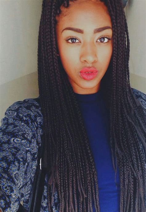 types of weave for box braids box braids let your weave hang low pinterest boxes