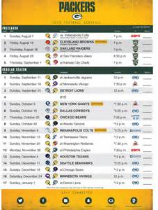 green bay packers 2016 schedule northwest packer backers