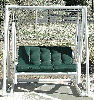 pvc porch swing pvc patio furniture decoration access