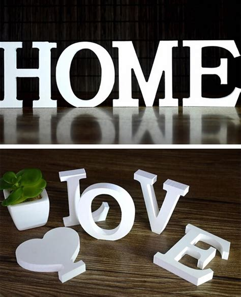 home decor letters of alphabet home decor decoration thick wood wooden white letters