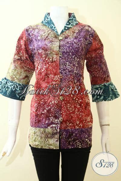 Batik Gamis Gradasi blus batik gradasi cap smoke berbahan halus adem dan