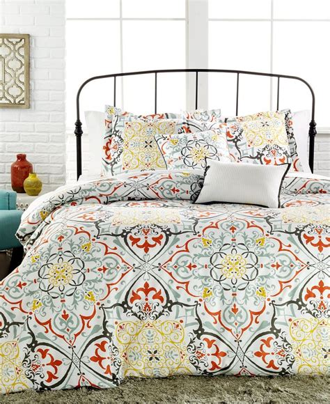 macys bed set yasani 5 pc reversible full queen comforter set bedding