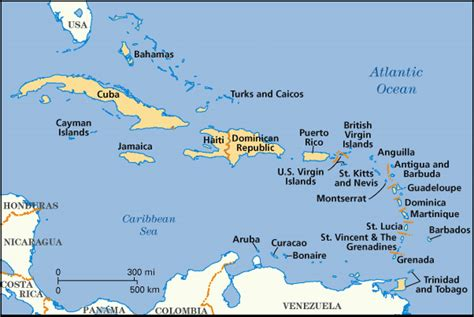 map of caribbean with country names caribbean lichens