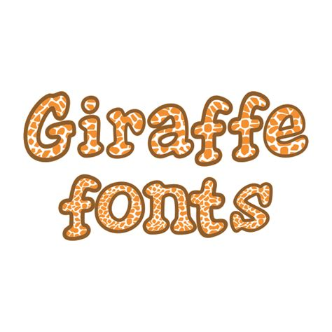 animal pattern font giraffe cuttable svg design fonts