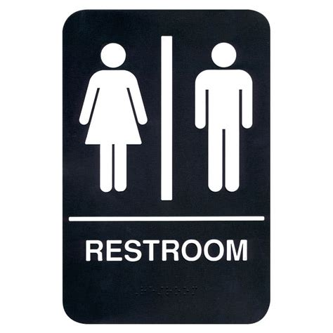 bathroom signs braille restroom sign