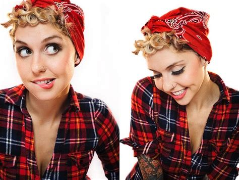 how to wear a bandana with short hair 25 best ideas about rockabilly short hair on pinterest