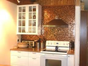 penny tile kitchen backsplash 27 trendy and chic copper kitchen backsplashes digsdigs
