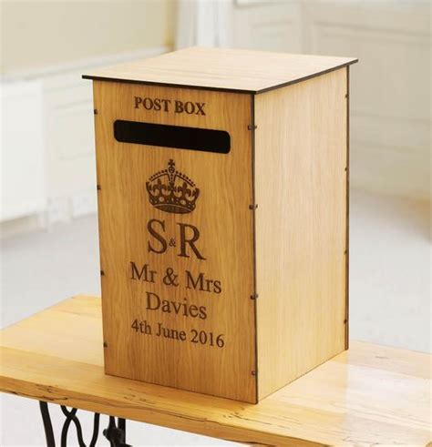 Personalised Wedding Post Box For Cards