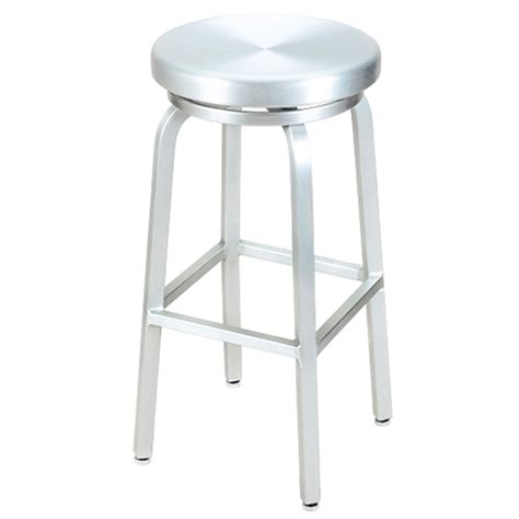 Aluminum Stool aluminum backless bar stool swivel at fashionseating