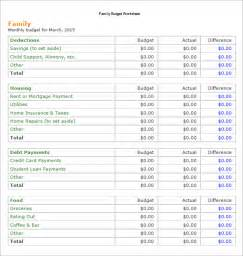 Template For Family Budget by Sle Family Budget 10 Documents In Pdf Excel Word