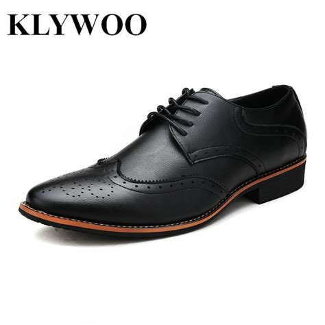 Klywoo New Brogue Oxford Shoes For Dress Shoes