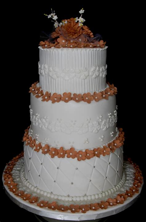 Wedding Layer Cake sugarcraft by soni three layer wedding cake blossoms