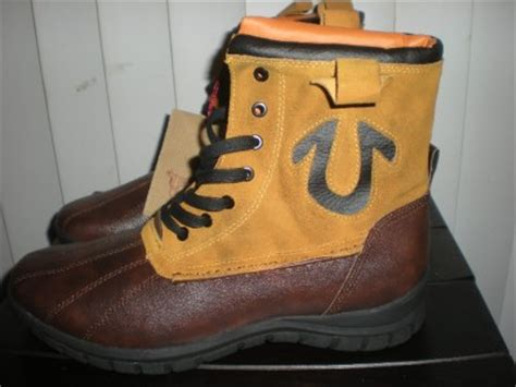 mens true religion boots shoes leather brown 12 nib ebay