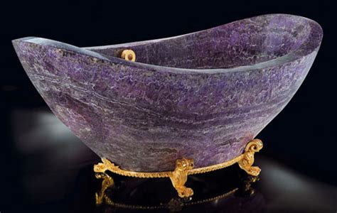 crystal bathtub 10 luxury items made out of crystals and stone your