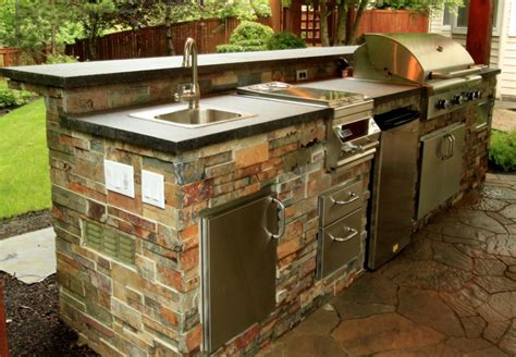 sink for outdoor kitchen beautiful outdoor kitchen ideas for summer freshome