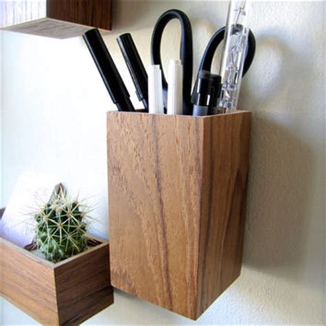 Wall Mounted Pan Holder Hanging Organizer Pencil Holder From Thewoodybeckers On Etsy