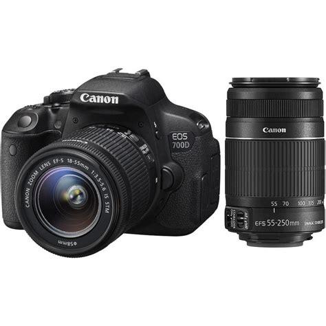 canon eos 700d 18 55mm stm 55 250mm ii kit dslrs photopoint