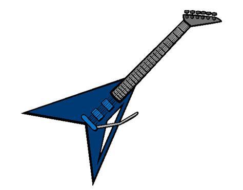 imagenes de guitarras rockeras para colorear dibujo de guitarra el 233 ctrica ii pintado por subzeromk en