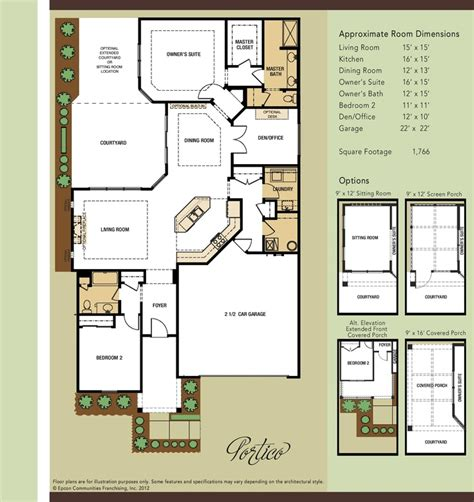 epcon communities floor plans 1000 images about portico on pinterest 2nd floor