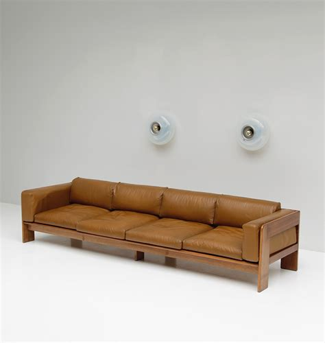 Wide Leather Sectional City Furniture 70s Wide Cognac Leather Sofa
