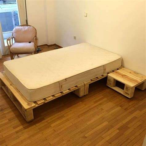 wooden pallet bed frame bed frame from pallets large size of bed8 wood pallet bed