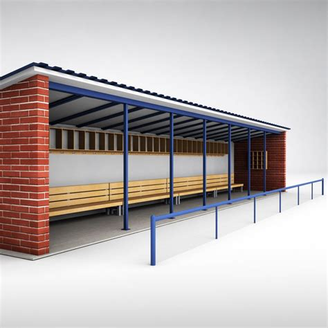 baseball bench baseball stadium dugout bench 3d model cgstudio