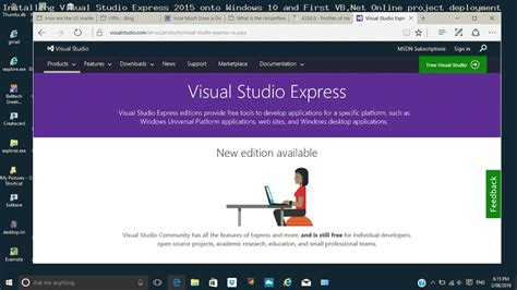 website tutorial visual studio 2015 visual studio express 2015 install and early days tutorial