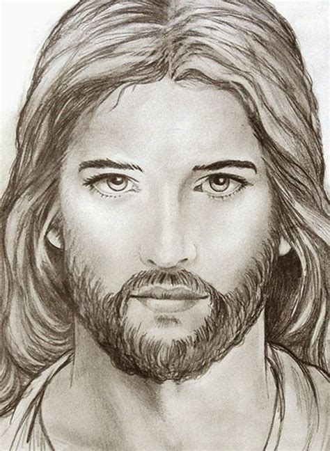 Drawing Jesus by Jim M Berberich Stained Glass Painter Jesus Sketch