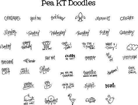 free doodle handwriting fonts free pea kt doodles font diy fonts diy printables