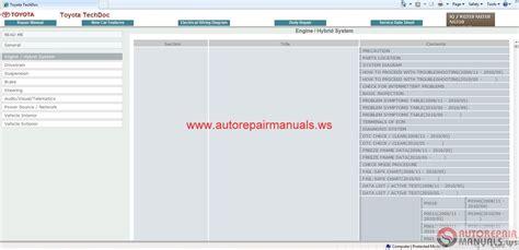 car repair manuals download 2011 toyota highlander lane departure warning toyota iq 01 2011 workshop manual cd rm11t4e auto repair
