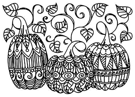 detailed pumpkin coloring page halloween 3 citrouilles coloriage halloween coloriages