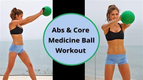min beginner abs core medicine ball workout youtube