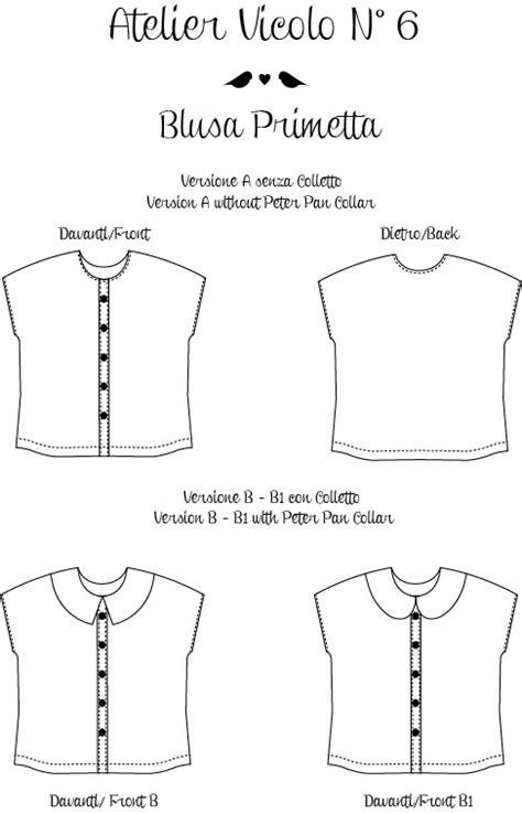 sewing pattern tester jobs blusa primetta primetta blouse by atelier vicolo n 176 6