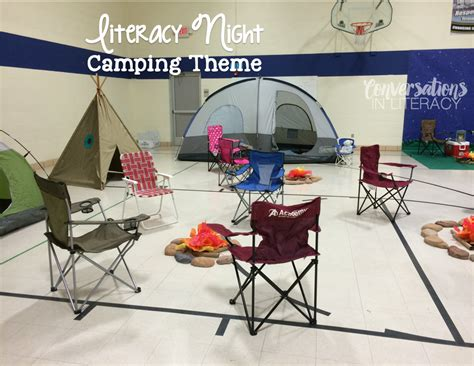 themes for reading night family literacy night cfires tents