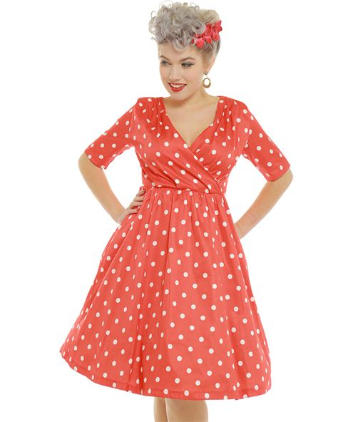 red polka dot swing dress dahlia red polka dot swing dress