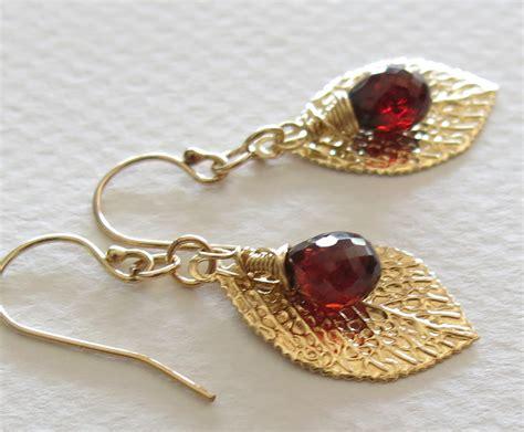Handmade Jewelry Earrings - handmade mozambique garnet earrings handmade jewelry