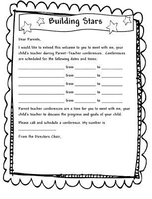 parent teacher conference letters free parent letter to get your parent teacher conferences