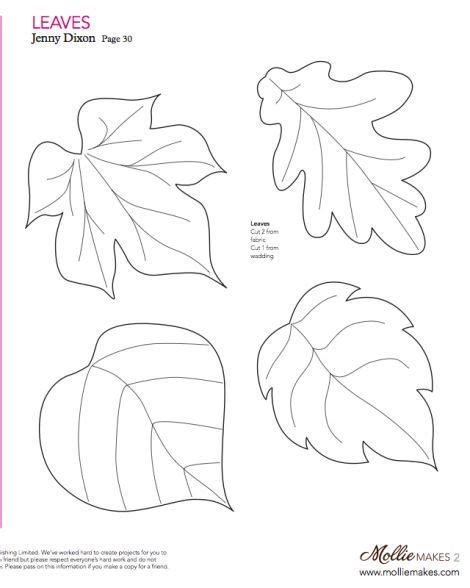 free felt templates free printable felt craft patterns felt leaf template cut