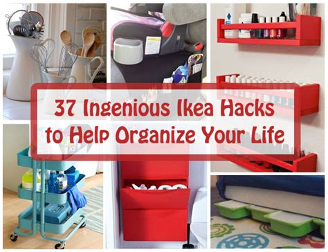 ikea life hacks 37 ingenious ikea hacks to help organize your life diy scoop