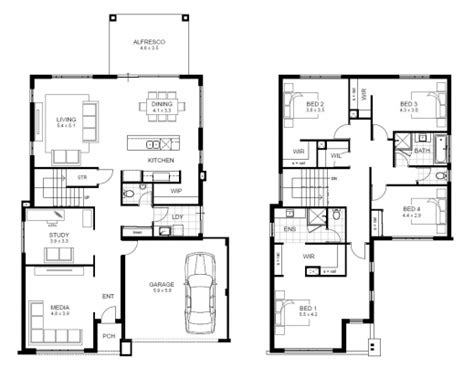 awesome 4 bedroom house designs perth storey apg
