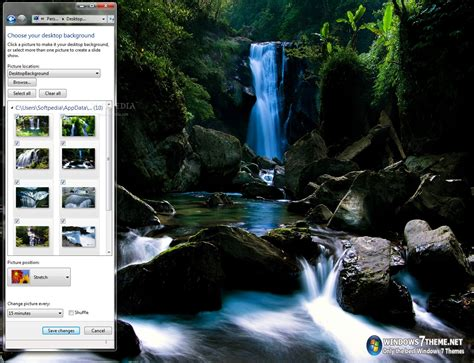 pc themes sound waterfalls windows 7 theme with sound download