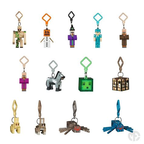 Bag Hanger 3d series 3 minecraft 3d keyring keychain belt bag hangers