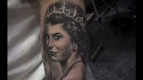 tattoo shop queen and bramalea royally cool portrait tattoos of queen elizabeth ii tattoodo