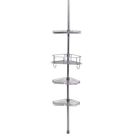 bathroom tension pole caddy glacier bay tension corner pole caddy in chrome 2190sshd the home depot