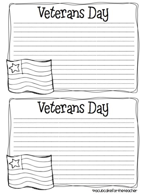 Cards For Veterans Template by Celebrate Veterans Day Primary School Arts