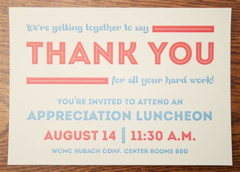 Appreciation Luncheon Invitation On Behance Appreciation Dinner Invitation Template