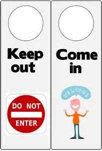 Keep Out Signs For Bedroom Doors printable do not enter door hanger