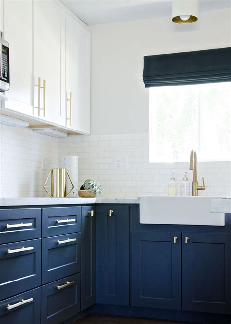 navy blue and gold kitchen my navy kitchen updated photos the vintage rug shop